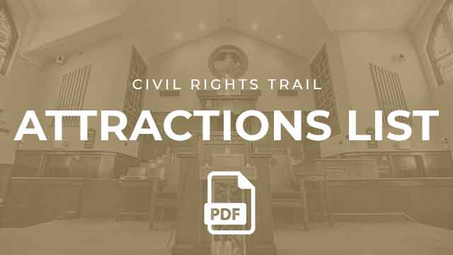 Civil Rights Trail Attractions List