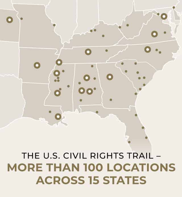 I Am America Map Golden Cities.Home Us Civil Rights Trail